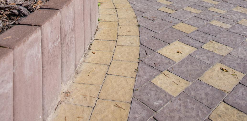 Бруківка Римський камінь, дизайн коричневий колір